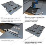 flat tile solar mounting