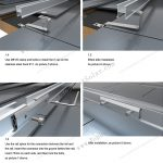 flat tile solar mounting system