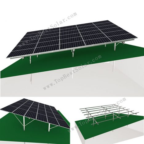 solar ground rack on hill