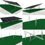 solar panel ground rack on hill