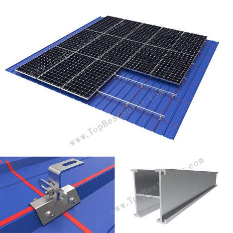 Solar Metal Roof Racking, SPC-RF-CK02-HR