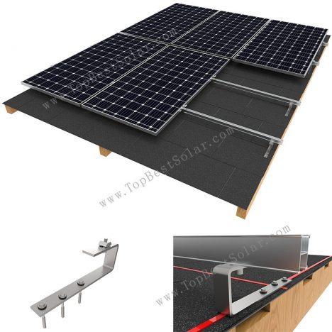 solar panel shingle roof mount
