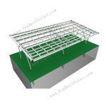 solar module carport mounting system